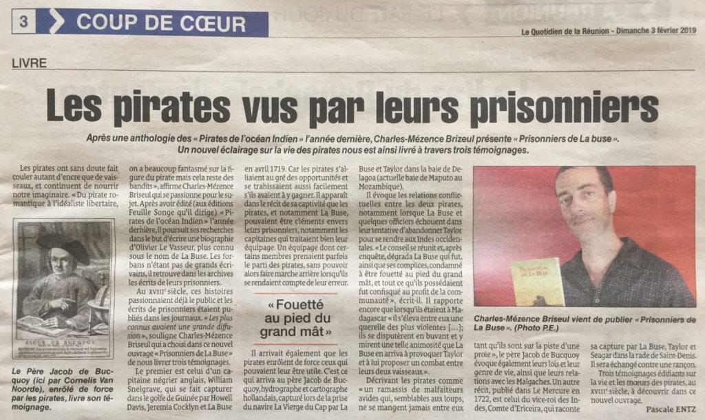 LES PIRATES VUS PAR LEURS PRISONNIERS